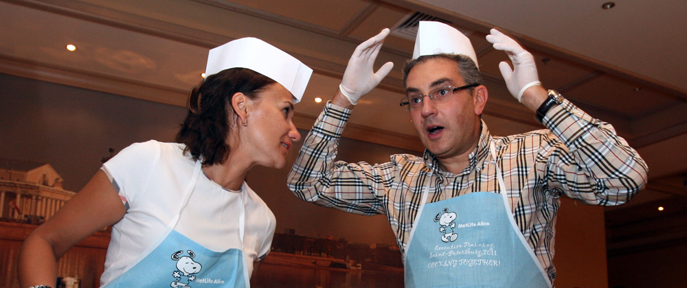 Culinary master class, St Petersburg, in Sempember 2011